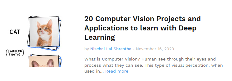 Computer Vision Projects and Application